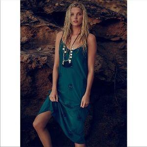 BOGO • Free People • Silk Embroidered Dress